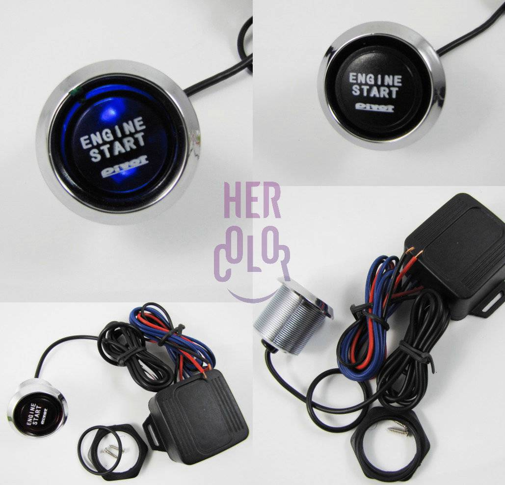 Push To Start Button Ignition: Blue Led Universal Push Start Button Ignition Engine Start