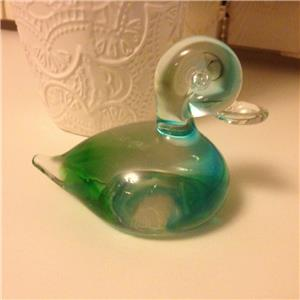 vintage chalet glass canada murano duck paperweight rare. Black Bedroom Furniture Sets. Home Design Ideas