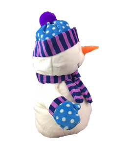 """NO SEW 16/""""//40CM BUILD A TEDDY BEAR MAKING KIT SNOWMAN with BLUE SCARF//HAT"""