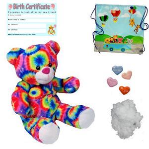 "Rainbow Bear 16/""//40cm construire un Teddy Bear Making Kit-Ajouter T-shirt//enregistreur vocal"