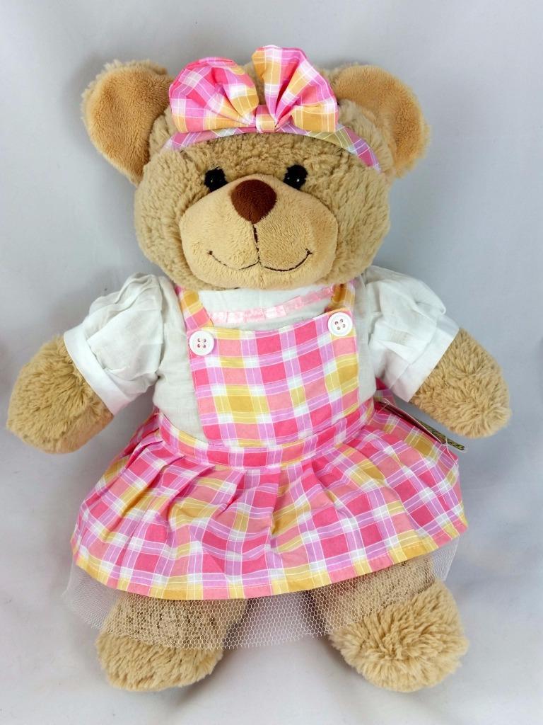 TEDDY BEAR CLOTHES DRESSES - bride fairy princess pink - 8\