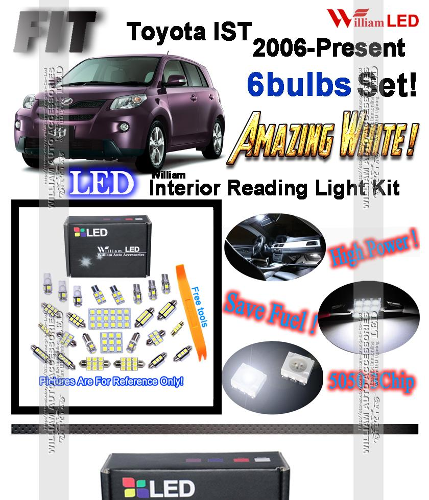 6 Bulbs Xenon White Led Interior Light Kit For Toyota Ist Urban Electronics 718113 Reverse Wiring Harness Select 20002006 Transform Your Ugly Stock Yellow With These Super Bright Easy Plug And Play Installation Takes 5 10 Minutes To Replace