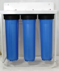 Triple Big Blue Water Filter Housing Sediment Carbon Gac