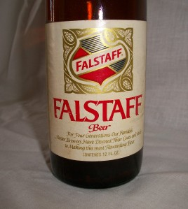 Falstaff Beer Bottle Stretched Glass Carnival MidWay Retro ...