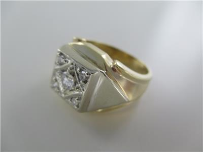 Men's Jewelry Other Fine Jewelry 14kt Yellow Gold Cluster Diamond Zipper Ring Size-6 990051833