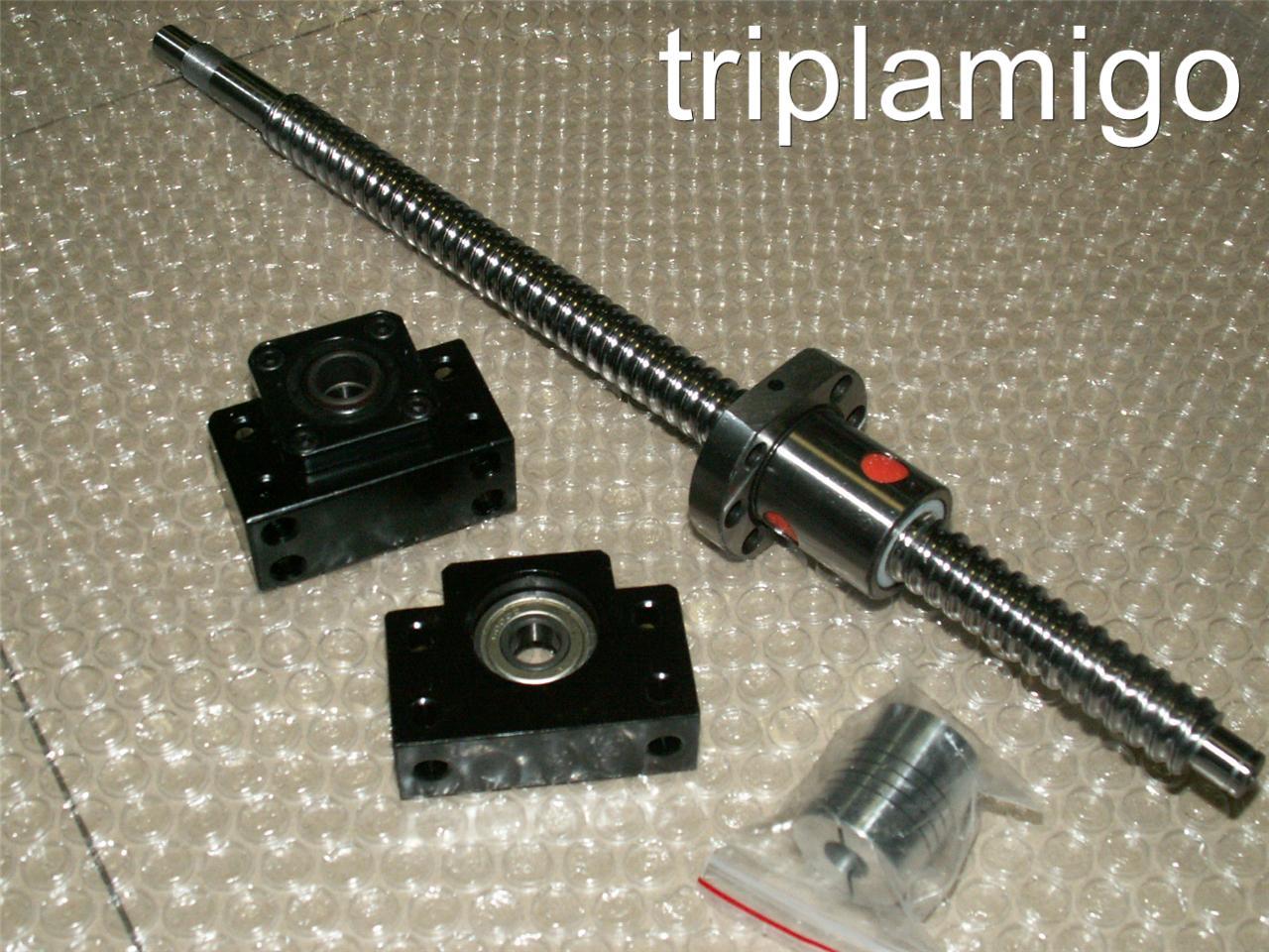 1 anti backlash 25mm ballscrew RM2510-1400mm-C7+BK//BF20 bearing mount CNC set