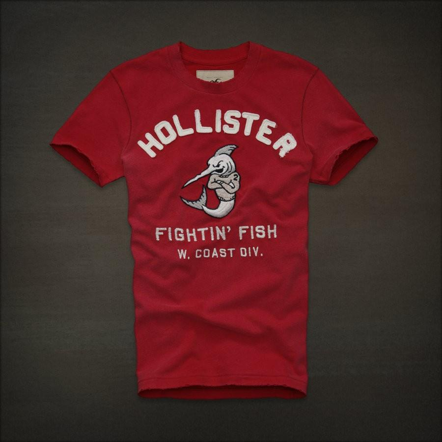 b2f8dedc Hollister by Abercrombie Emma Wood Men Graphic Tee T Shirt Top Red ...