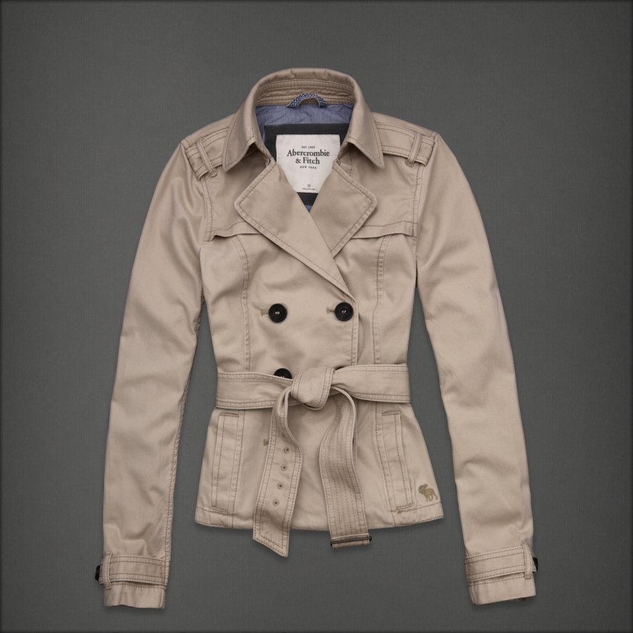 NWT Abercrombie & Fitch Women Nicole Trench Jacket Coat ...  NWT Abercrombie...