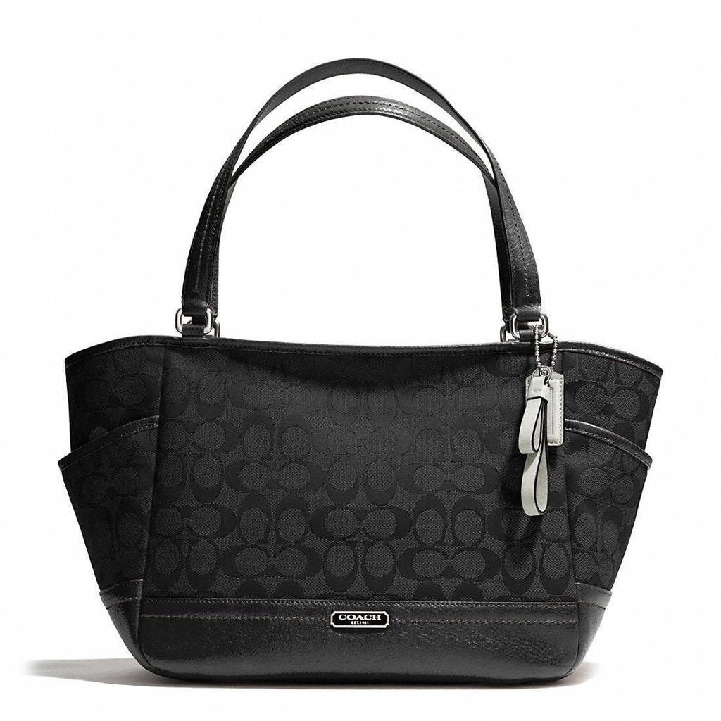 Authentic COACH BLACK PARK SIGNATURE CARRIE Purse Handbag ...