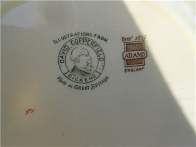 Adams David Copperfield Micawber Valedictory Plate Euc