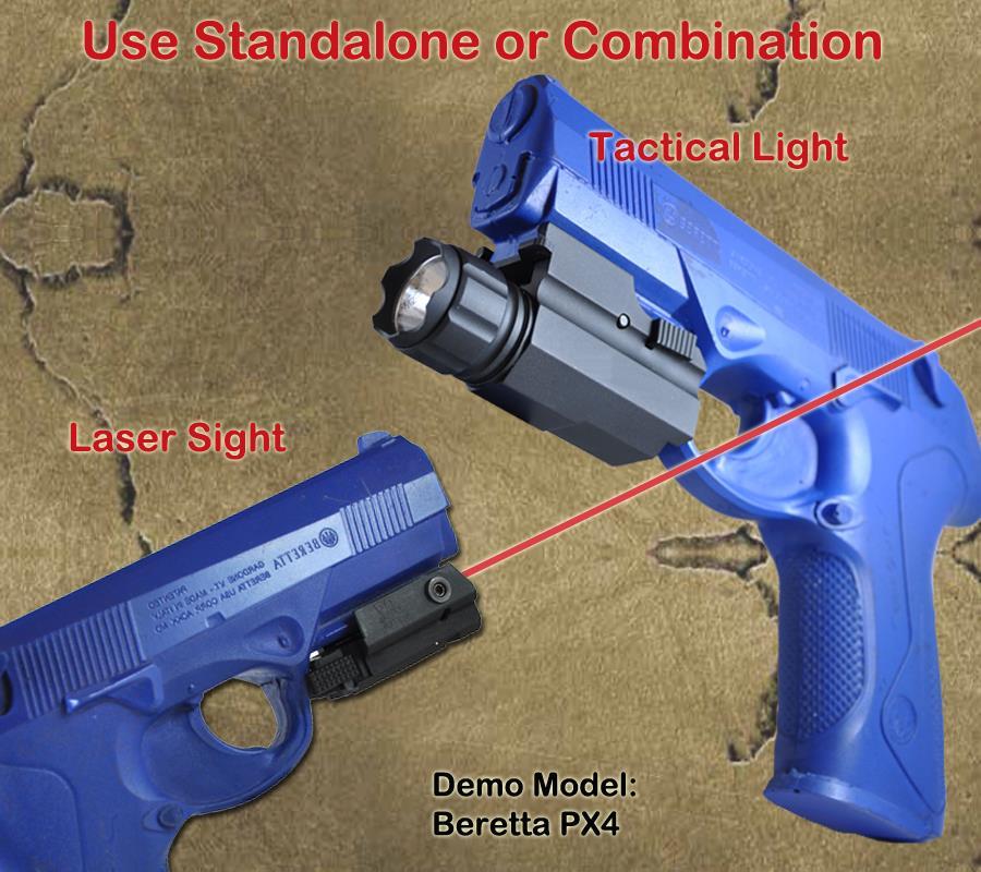 Mount Laser For Taurus Revolvers: Pistol Tactical Flashlight Laser Sight Combo