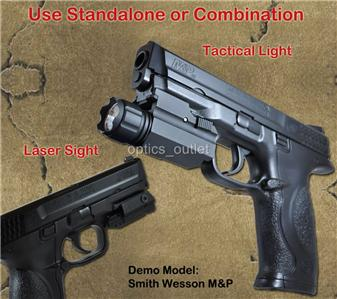 Pistol Tactical Flashlight Red Laser Sight Combo For Sig