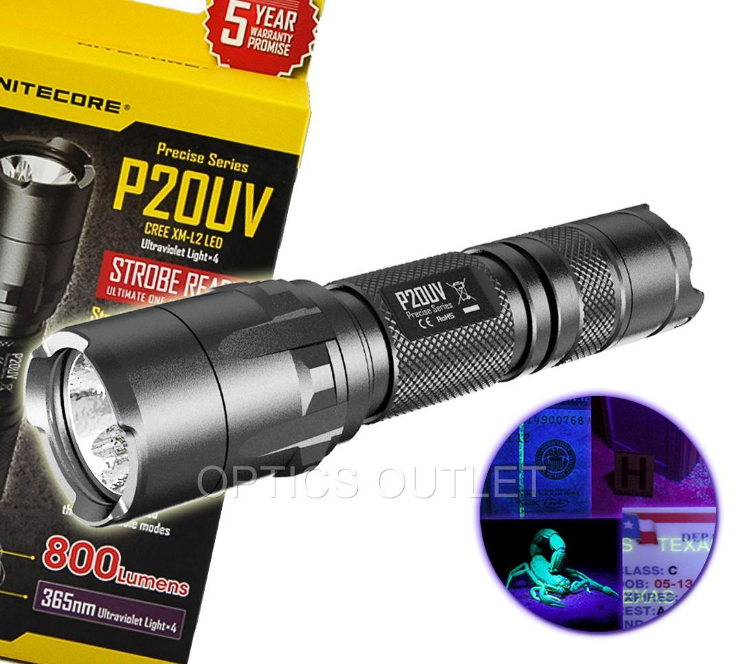 Nitecore P20 800 Lumen Tactical LED Flashlight w// RSW2 Pressure Switch and Mount