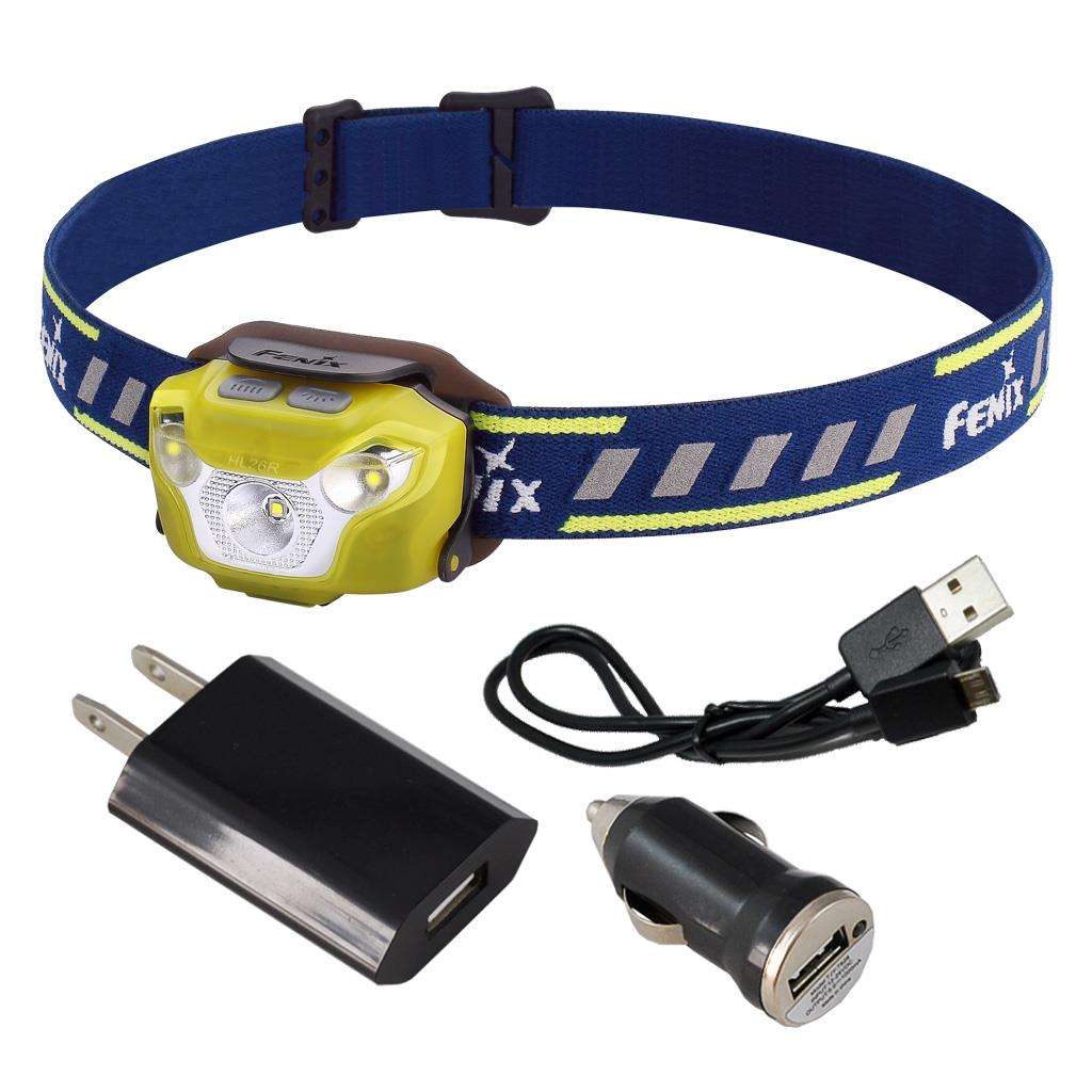 Led Spotlight Headlamp: Fenix HL26R 450 Lumen Spotlight/Floodlight LED