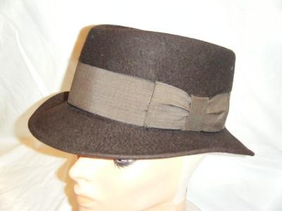 7ec014a3eef6b Vtg STETSON ROYAL DE LUXE FEDORA HAT sz 7 Chocolate Brown Classic on ...
