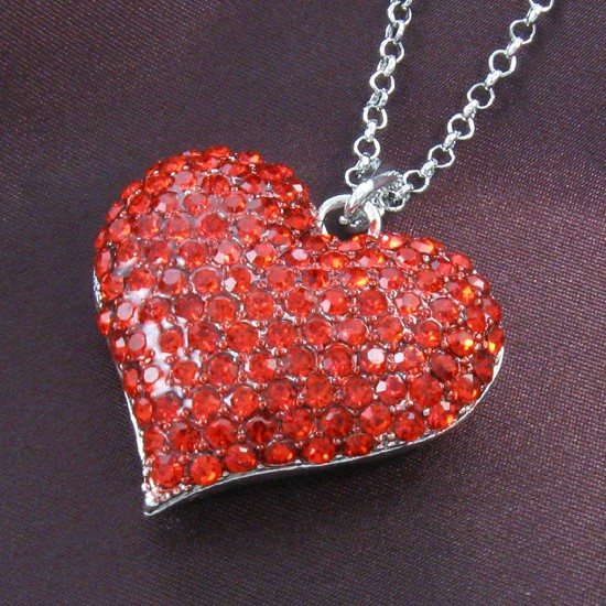 jewelry pendant sterling gemstone cupid jade silver bling heart red