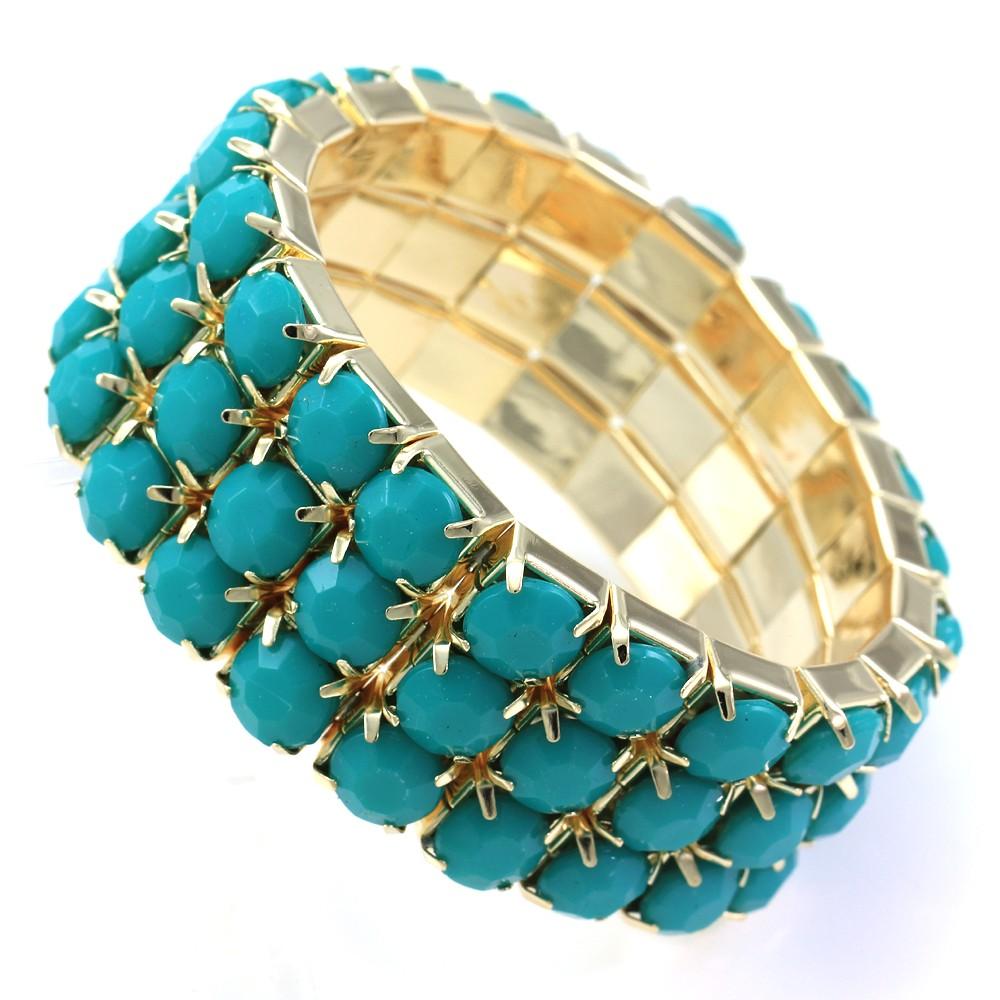 Turquoise Gold Adjustable Bracelet
