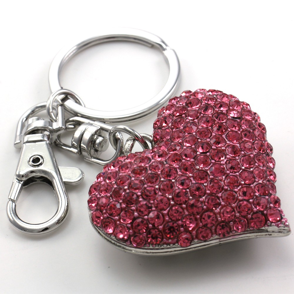 Mothers day valentines day gift love pink heart car keychain key description negle Image collections