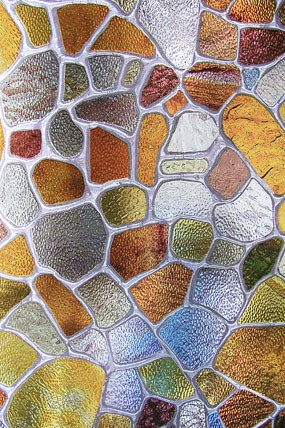 New Brown Privacy Stained Glass Decorative Window Film Vinyl ...