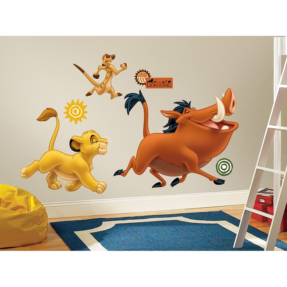 new lion king giant wall decals simba timon pumba room stickers bedroom decor ebay