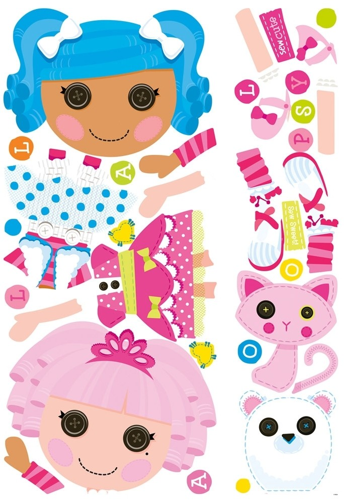 New Giant Lalaloopsy Wall Decals S Pink Bedroom Stickers