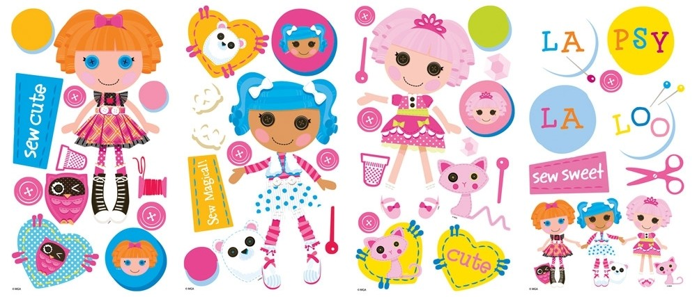 Set Of 44 New LALALOOPSY WALL DECALS Girls Bedroom