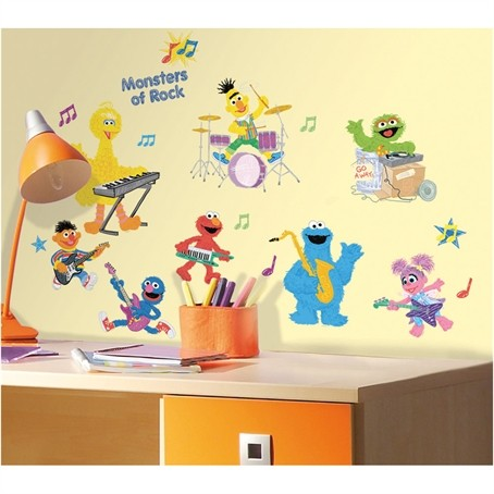 36 New Sesame Street Rock Amp Roll Wall Decals Kids Amp Baby