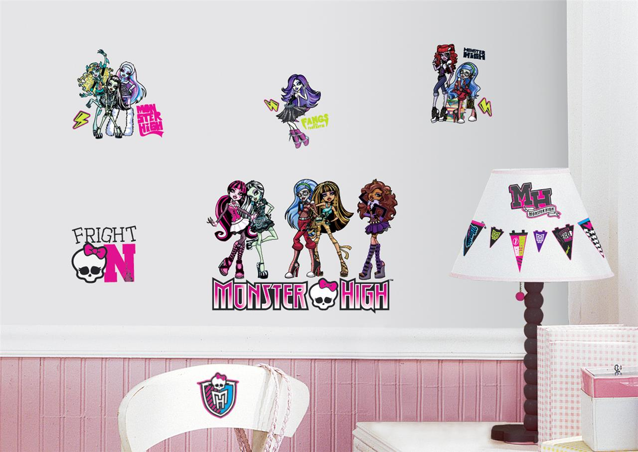 New Monster High Wall Decals Girls Bedroom Stickers Pink