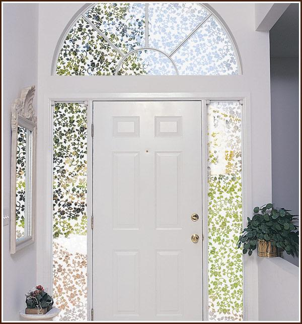 new floral eden frosted semi privacy etched glass decorative window door film ebay. Black Bedroom Furniture Sets. Home Design Ideas