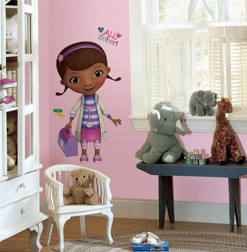 New Giant DOC MCSTUFFINS WALL DECALS Disney Stickers Girls