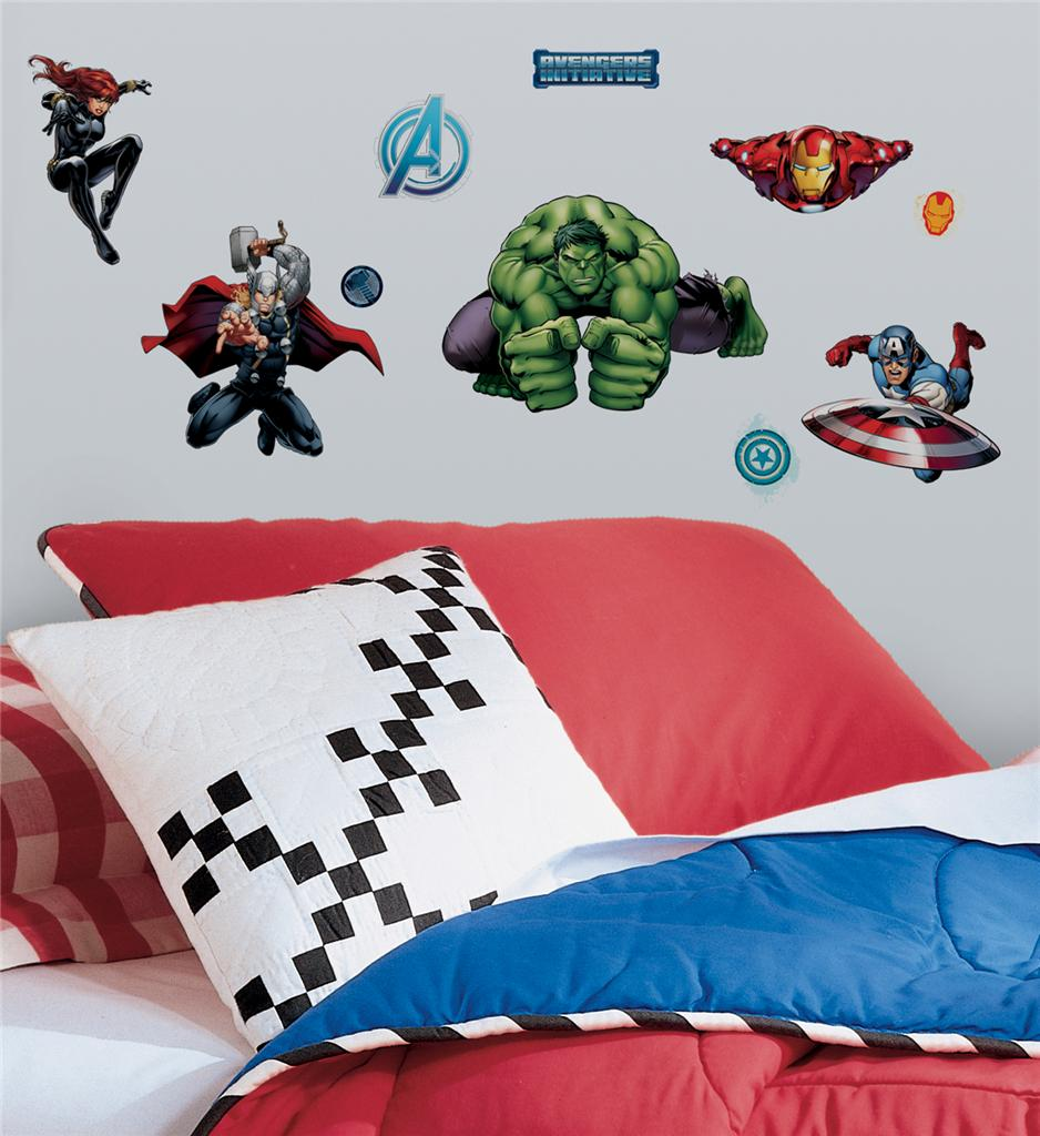 28 New Avengers Assemble Wall Decals Marvel Room Stickers