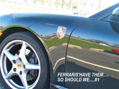 We Have Side Fender Badge Emblems For Your Panamera Or 928 Since Fenders Are Aluminum Badges Made Form Removeable Vinyl