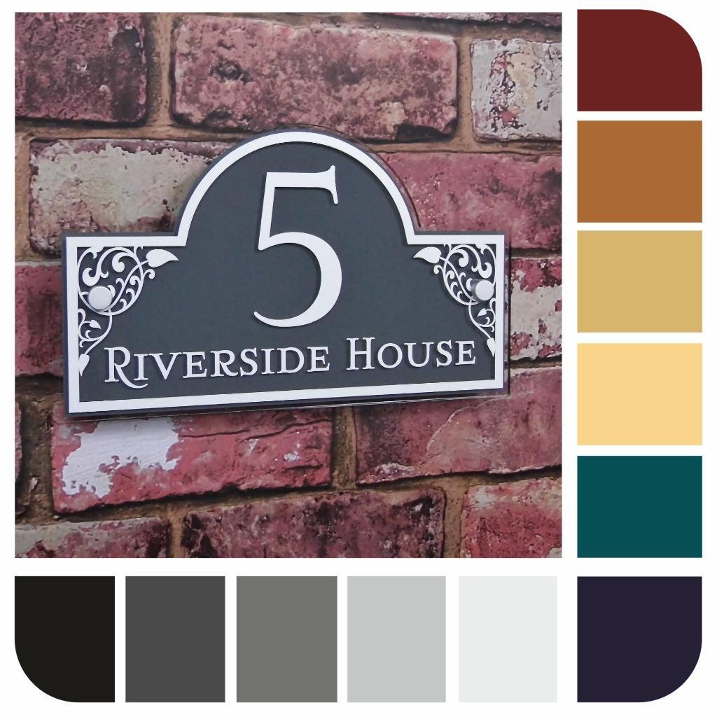 panneau maison nom plaque de num rotation rue adresse assiette personnalis ebay. Black Bedroom Furniture Sets. Home Design Ideas