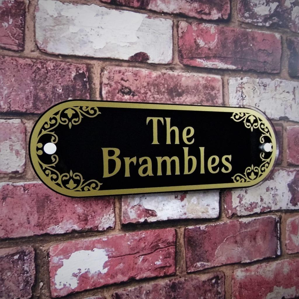 PERSONALISED Decorative House Address Plaque Number Sign