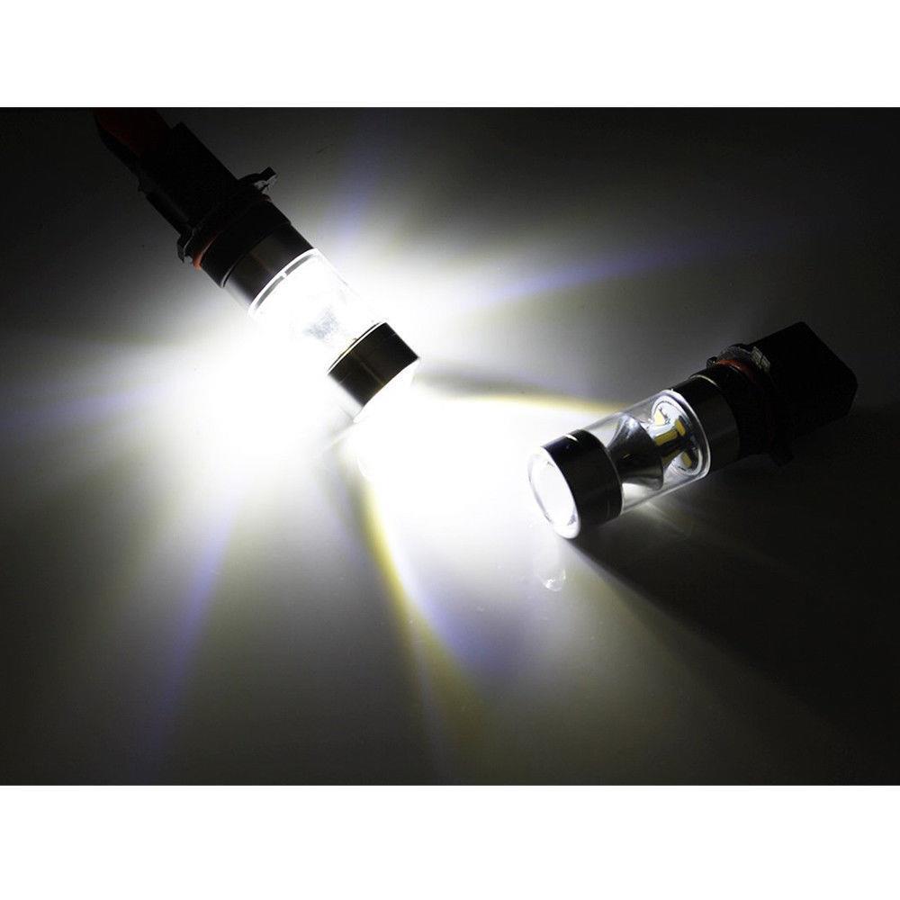 2x White 2504 100w Led Fog Light Bulb For 2011 2012 2013