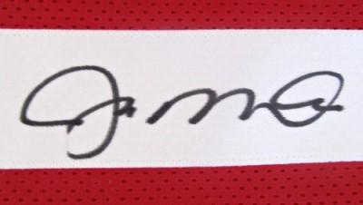 San Francisco 49ers Joe Montana Autographed Red Jersey PSA/Montana