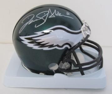 David Akers Autographed Philadelphia Eagles Mini Helmet SI Holo COA