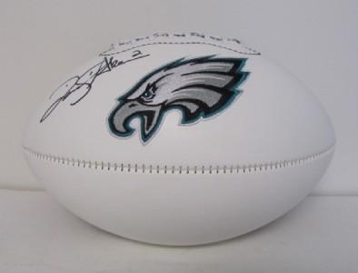 David Akers Autographed Philadelphia Eagles Football JSA