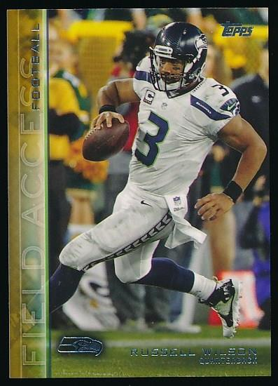 2015 Topps Gold #366 Russell Wilson Seattle Seahawks Football Card