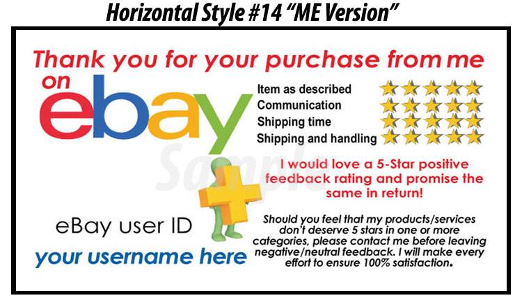 50 ebay seller custom personalized 5 star reminder thank for Ebay feedback request template