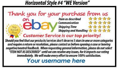 10000 Uv Gloss Ebay Custom Printed Seller Id Thank You Business Cards Free Ship Ebay