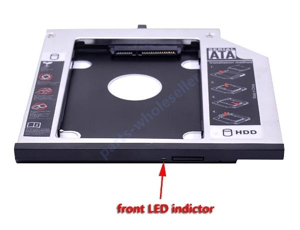 with Bezel 2nd SSD HDD Hard Drive Caddy for IBM Lenovo T400s T500 T410 43N3412