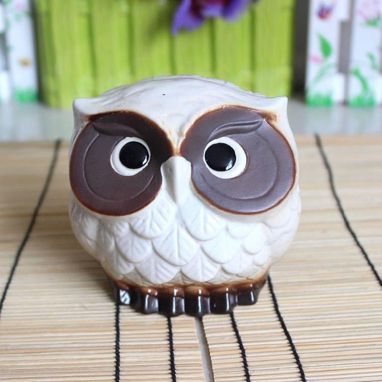 Cute Ceramic Owl Bird Garden Indoor Outdoor Decoration