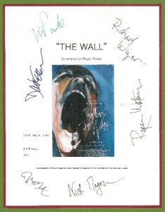 Pink Floyd The Wall Script Signed rpt Roger Waters David Gilmour