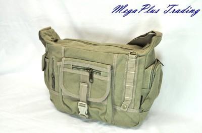 Ahmik Casual Canvas Shoulder Messenger Bag B-3059 Green