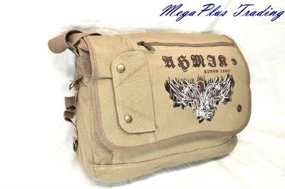Ahmik Casual Canvas Messenger Book Bag BMT-3287 Green