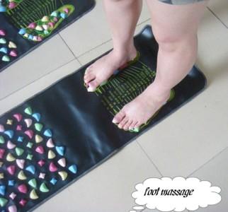 foot massage walk stone reflexology leg massager mat