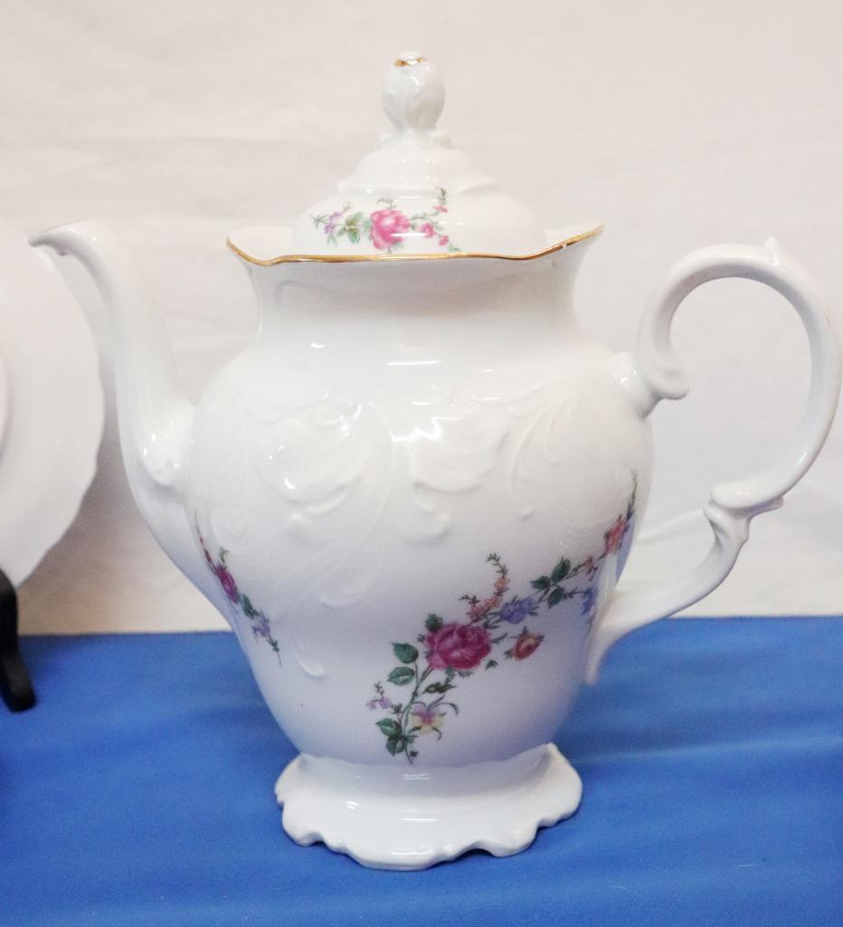 Vintage-Wawel-Enchanted-Rose-Garden-Cream-Soup-Salad-Bowl-Made-in-Poland-China thumbnail 5