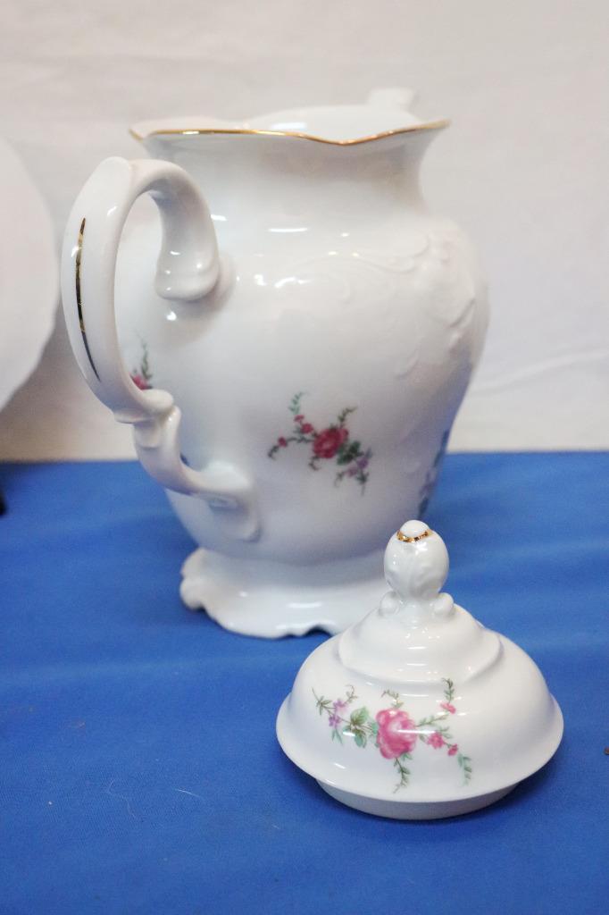 Vintage-Wawel-Enchanted-Rose-Garden-Cream-Soup-Salad-Bowl-Made-in-Poland-China thumbnail 6