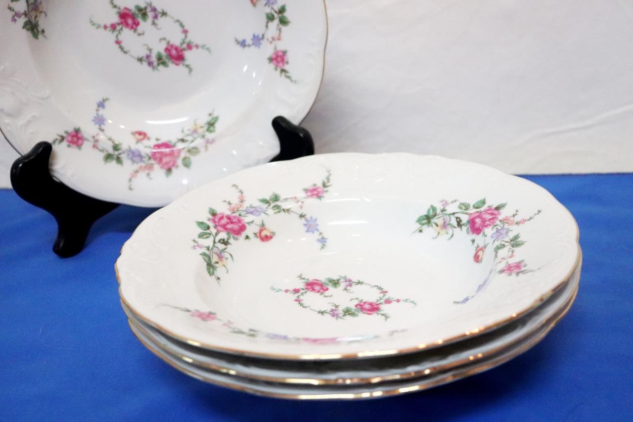 Vintage-Wawel-Enchanted-Rose-Garden-Cream-Soup-Salad-Bowl-Made-in-Poland-China thumbnail 12